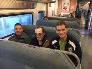Travel Training on NJ transit train