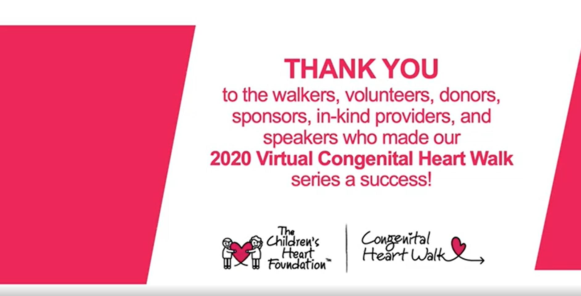 2020 Congenital Heart Walk Thank You Video