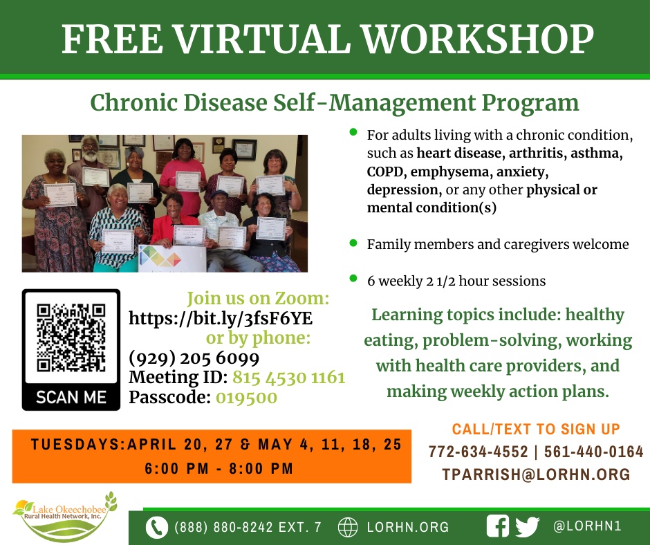 Chronic Disease Self-Management Workshop