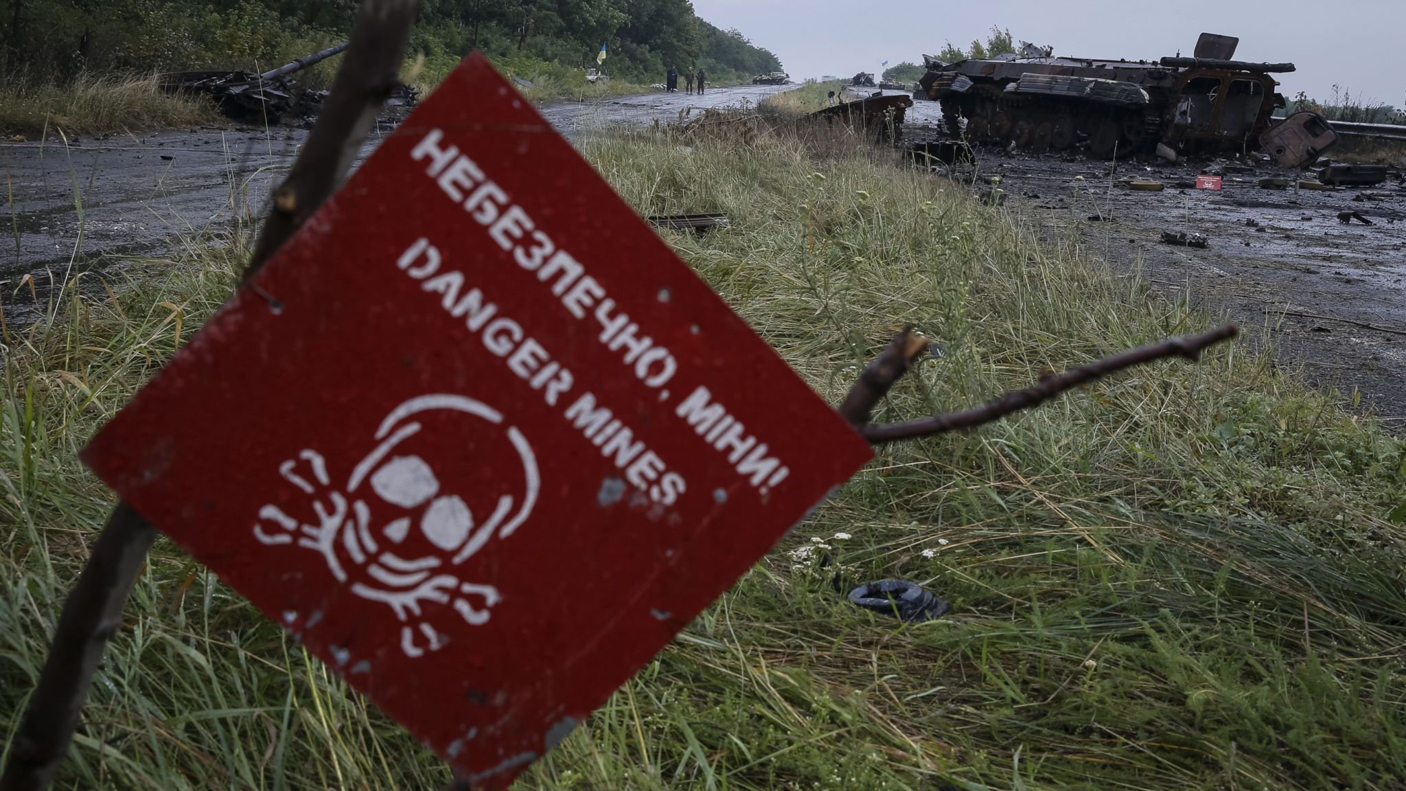 Landmine kills three boys playing in an 'abandoned house' in Ukraine