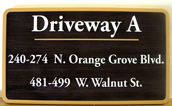KA20617 - Carved and Sandblasted HDU Driveway and Address Sign