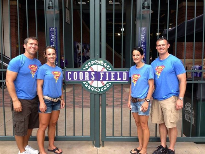 Awesome picture from Coors Field!! Thank you Brezenski's and Pelan's for spreading awareness!!