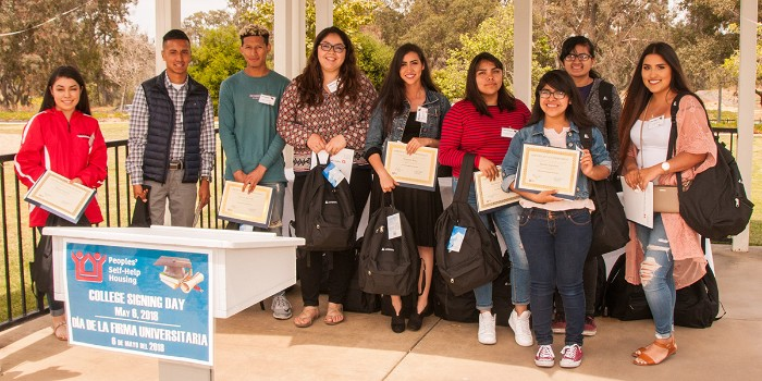 First-Generation College Students Celebrated at  Peoples' Self-Help Housing College Signing Day