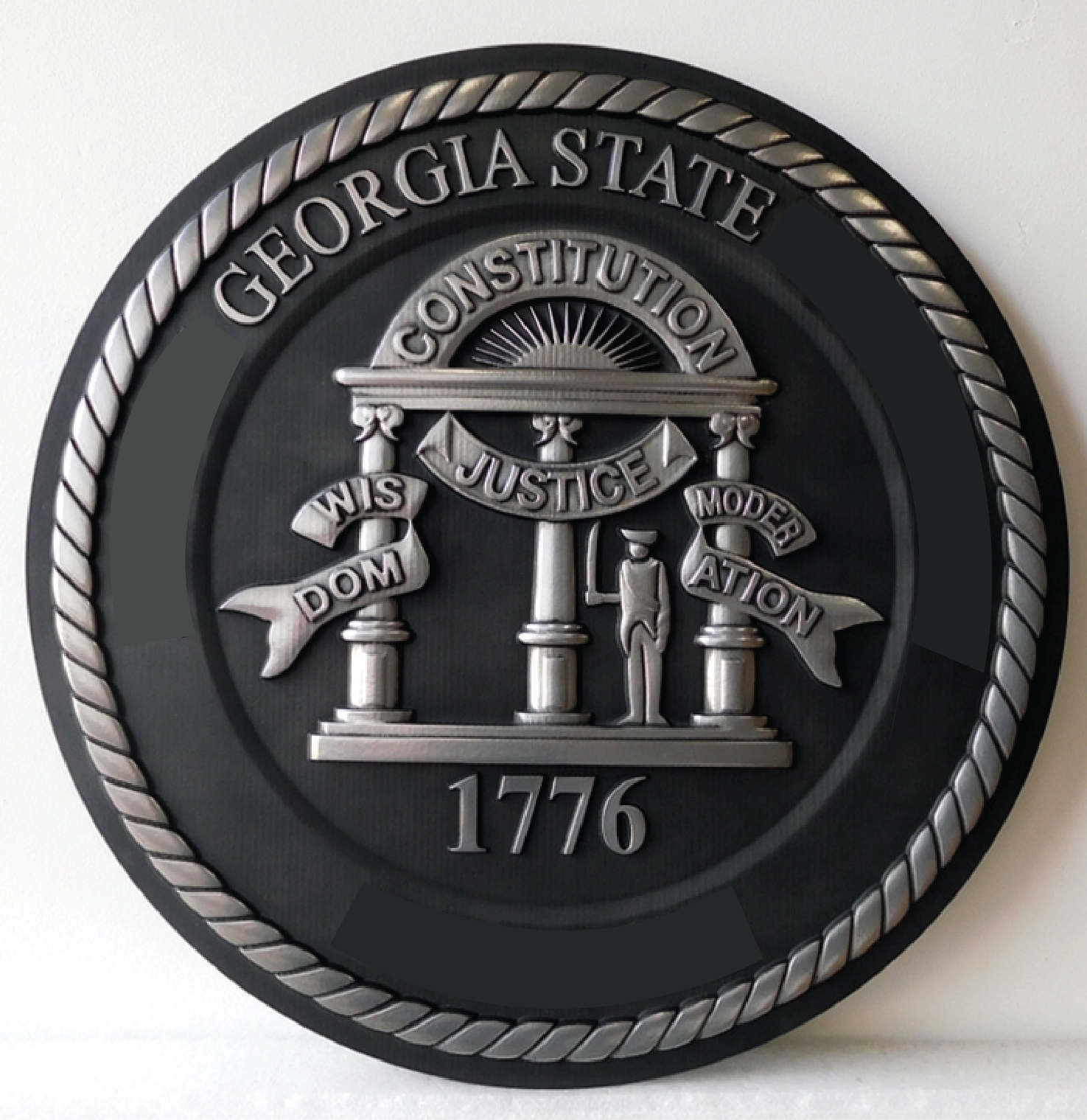 GP-1075 - Carved Plaque of the  Seal of a State Court, State of Georgia