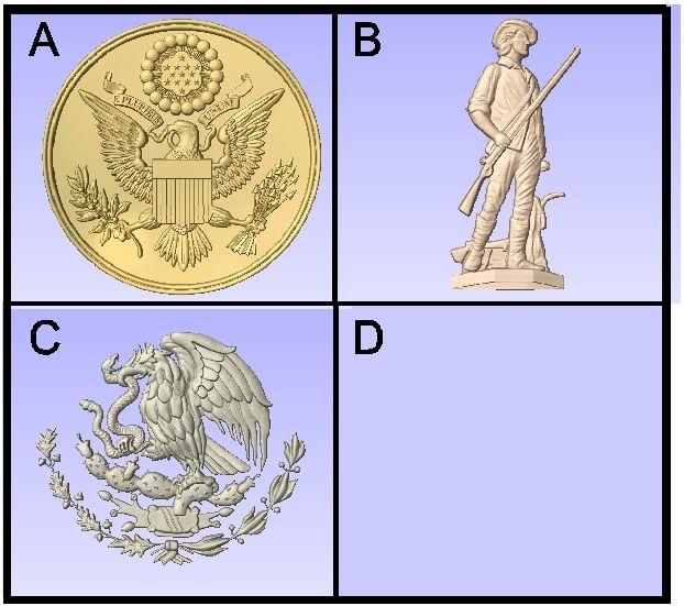 U30902 -Carved National Symbols
