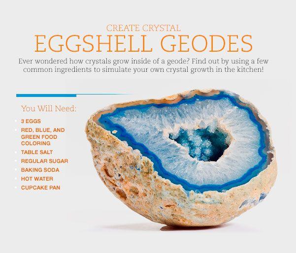 CREATE CRYSTAL EGGSHELL GEODES