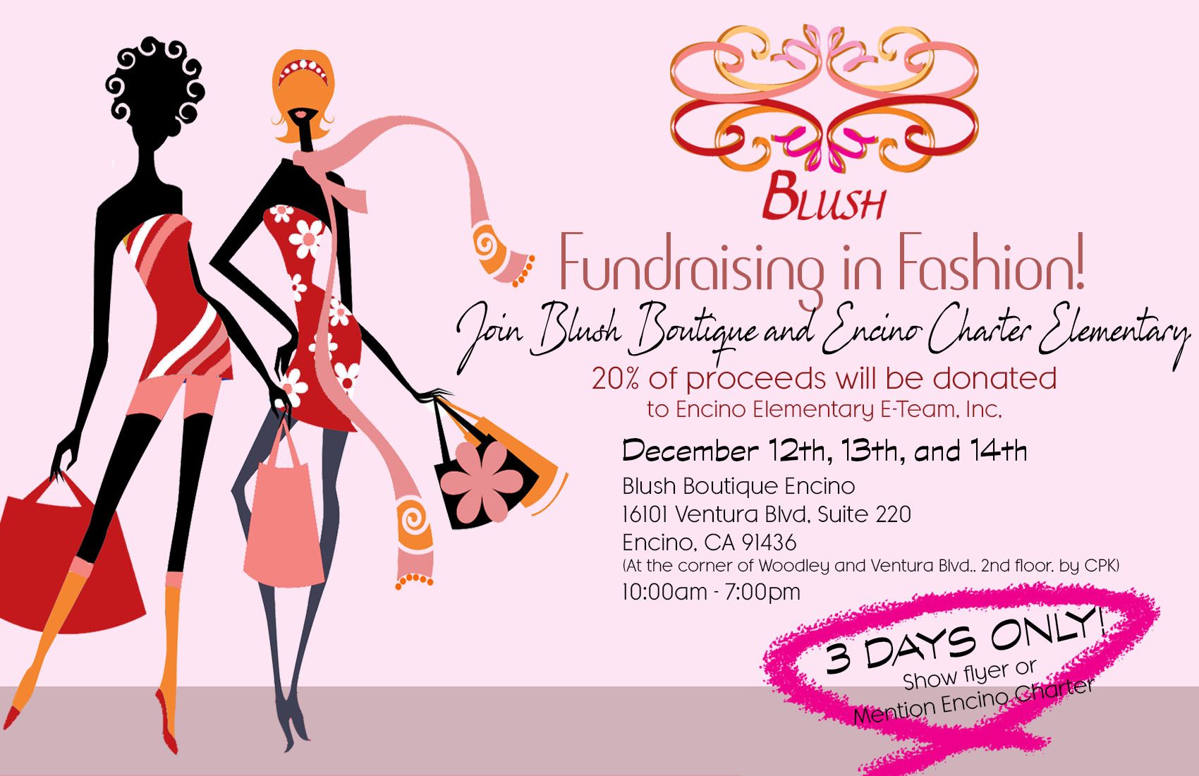 BLUSH BOUTIQUE FUNDRAISER