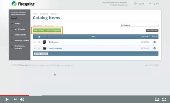 Building Catalogs I