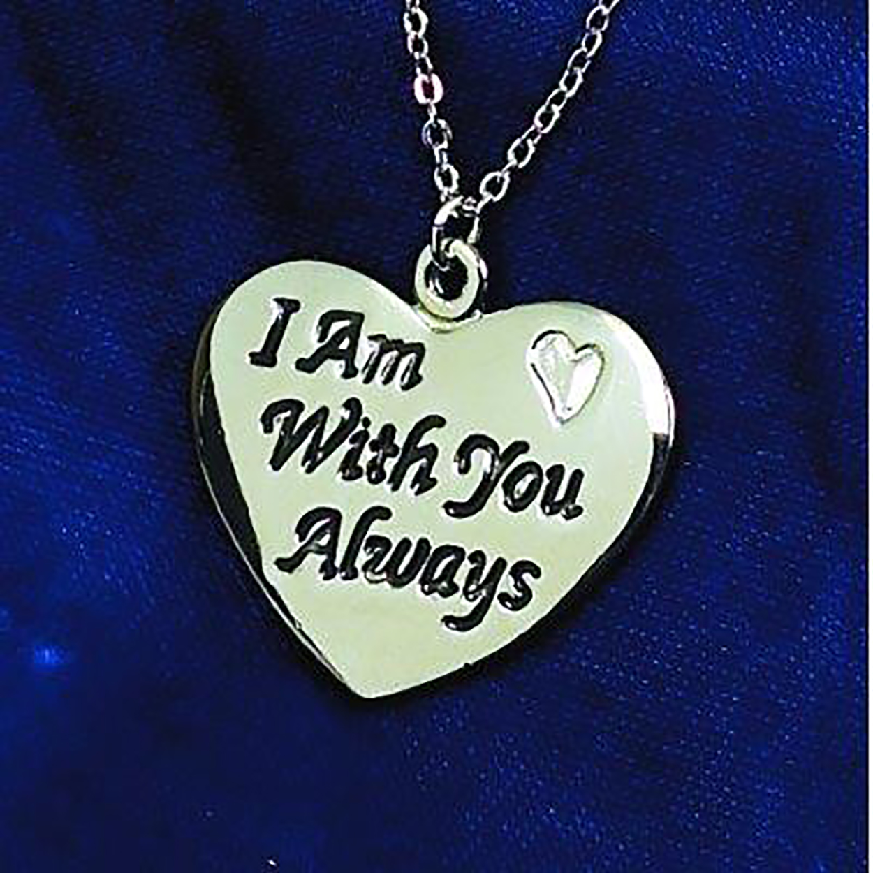 I Am With You Always heart pendant