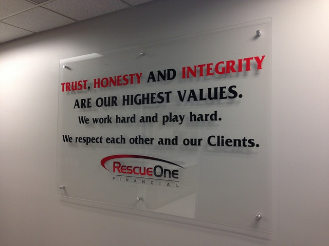 Core Value Acrylic panel signs for Orange County
