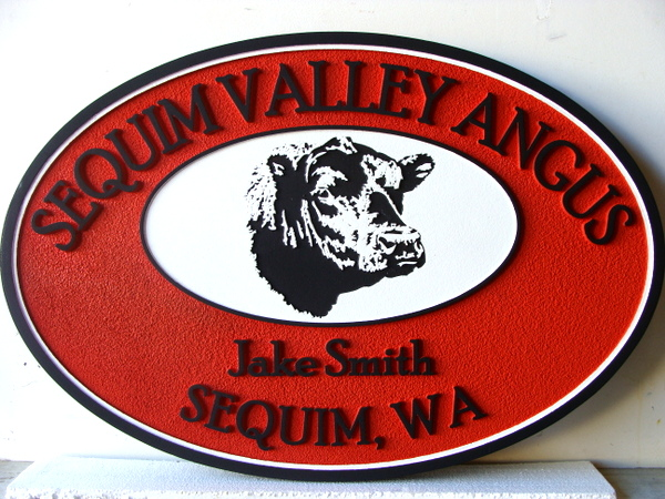 O24104 - Sandblasted Angus Ranch Sign