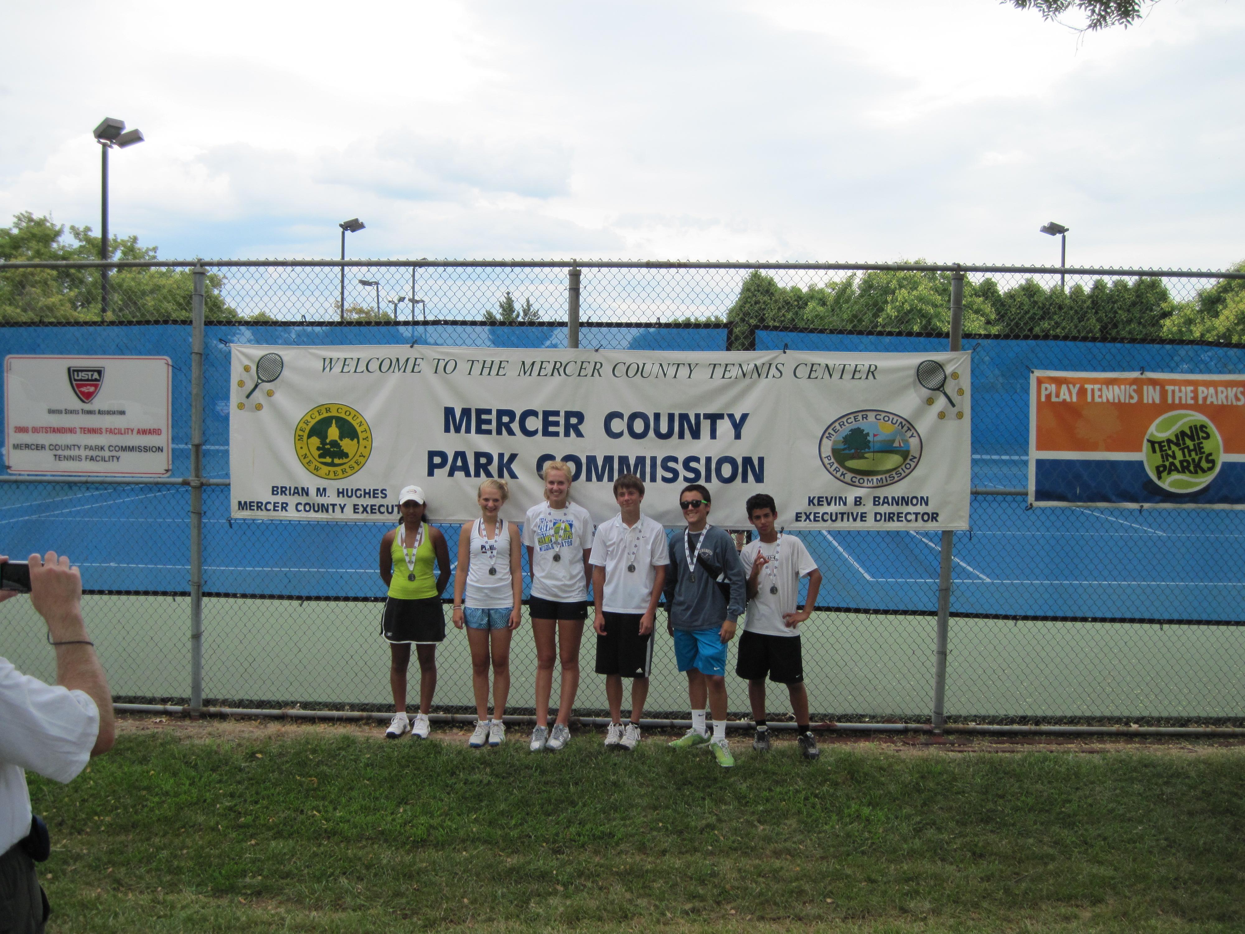 Set Point Tennis Team Runner-Up 18 Division Mercer Park New Jersey