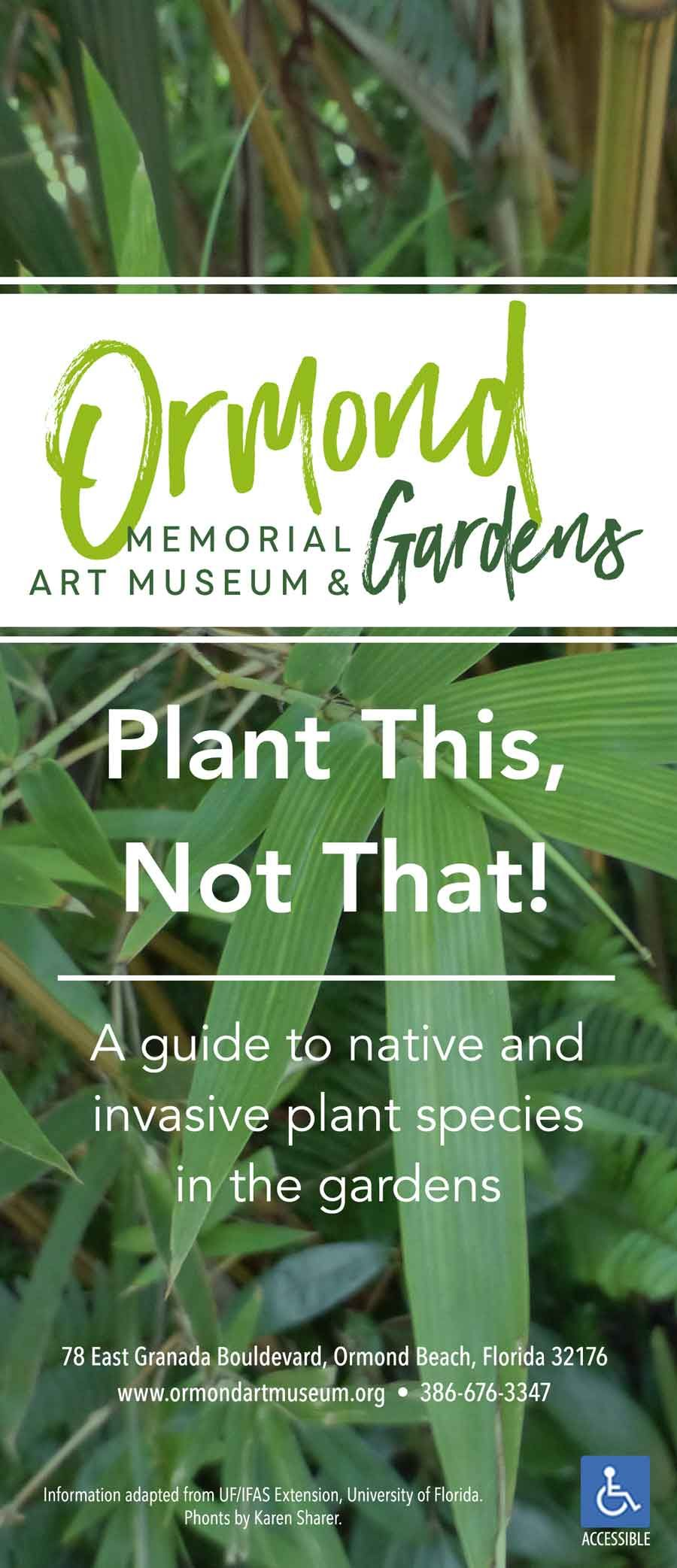 A guide to native and invasive plant species in the gardens
