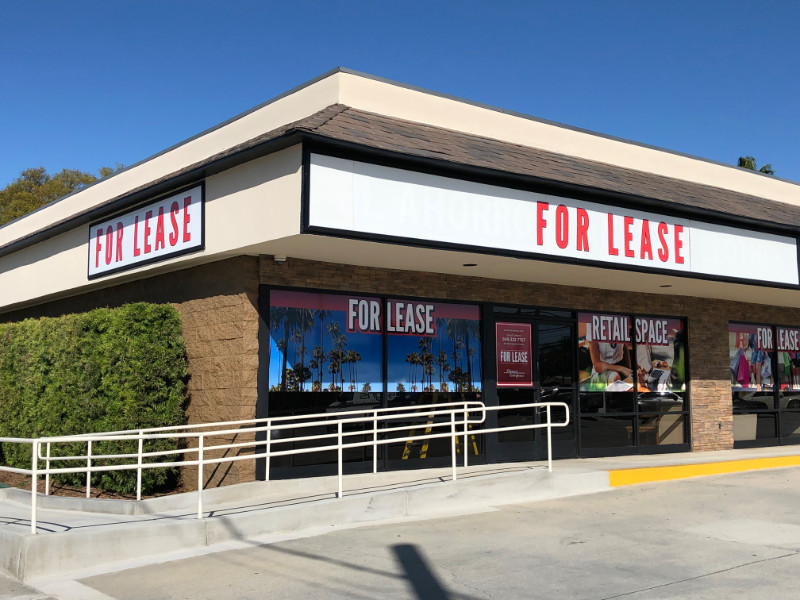 Commercial Property For Lease Window Graphics Anaheim CA