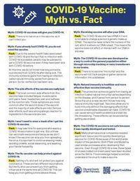 COVID-19 Vaccine: Myth vs. Fact