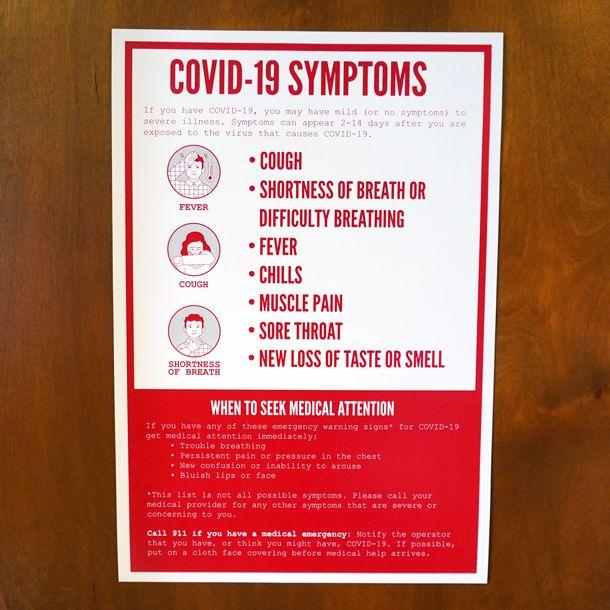 OTR Covid-19 Symptoms Poster
