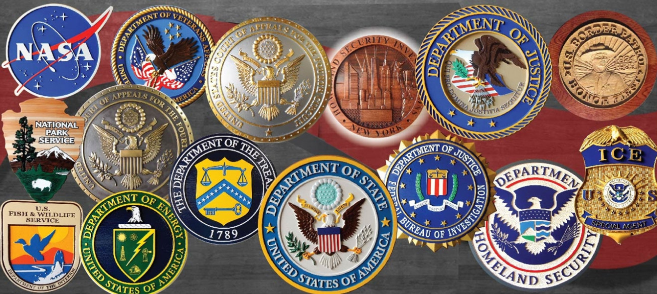 Fig 1 This Picture Shows The Wide Variety Of Styles Our Dimensional Great Seal Wall Plaques For Federal Government Executive Departments And Their