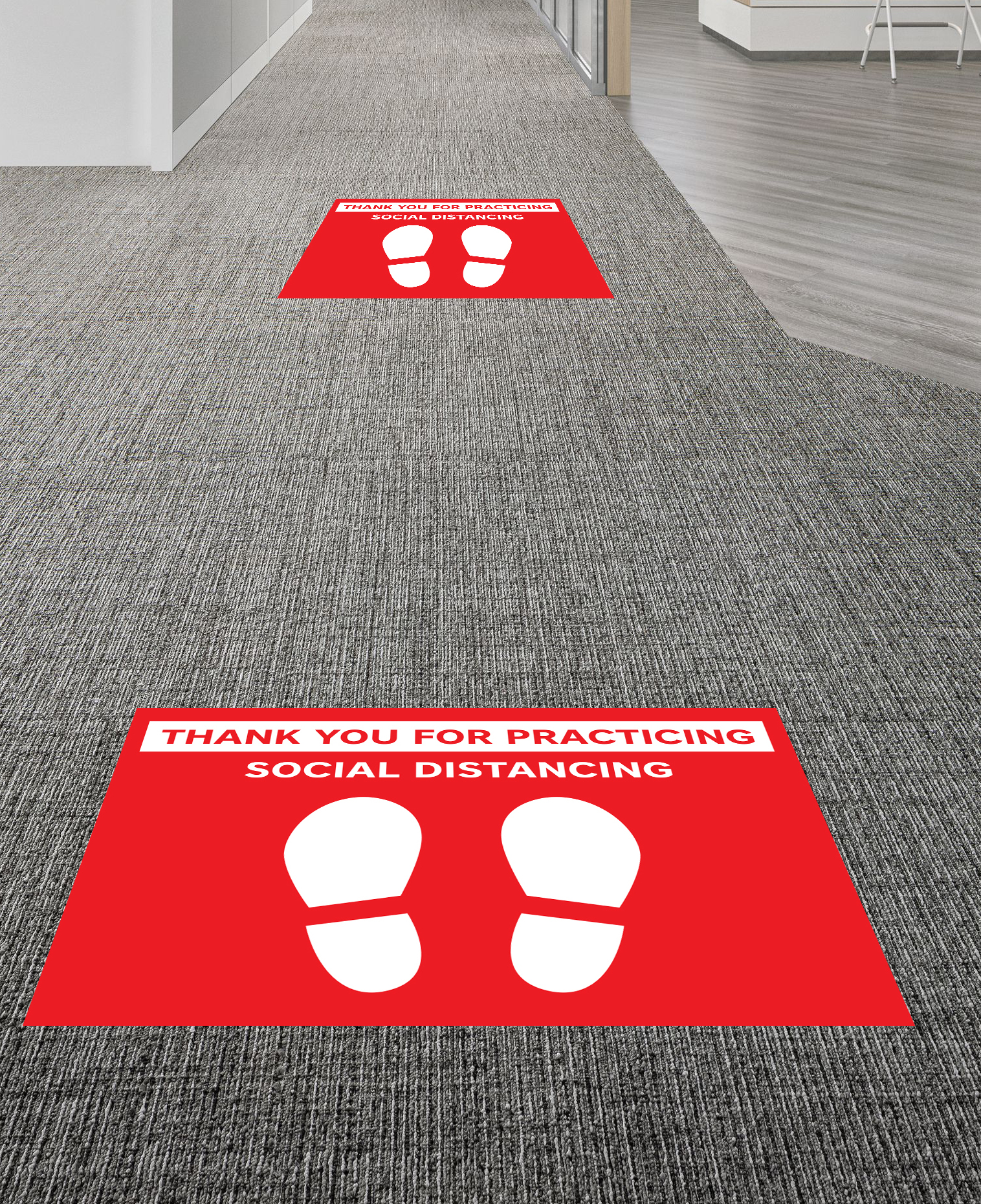Social Distancing Floor Graphic