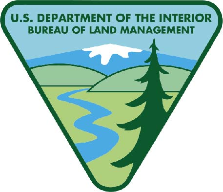 U30435 - Bureau of Land Management (BLM) Emblem Carved Wood Wall Plaque