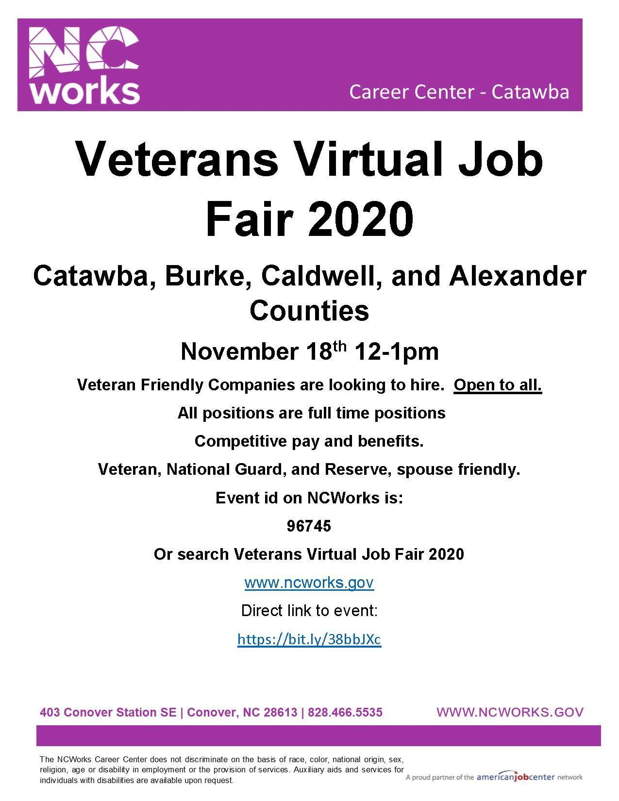Veterans Virtual Job Fair 2020