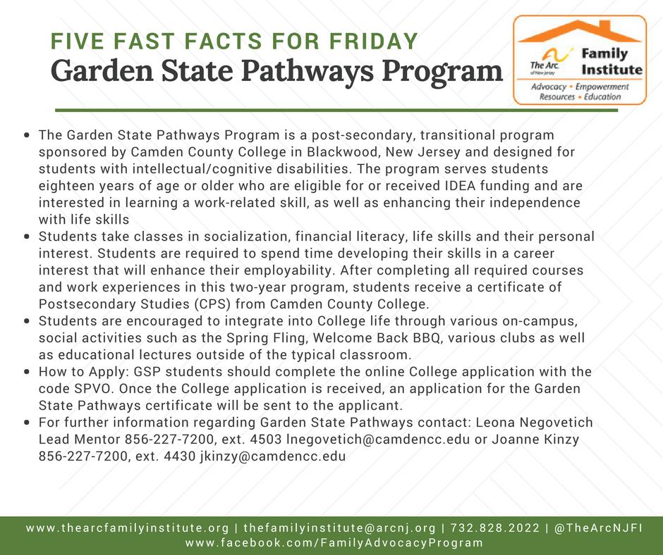 Garden State Pathways Program