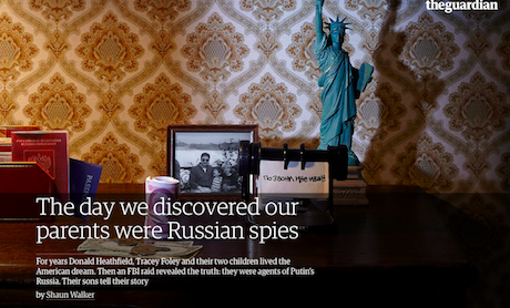 """The Day We Discovered Our Parents Were Russian Spies"" - via The Guardian"