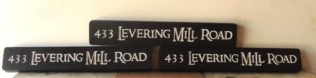 I18856 - Engraved HDU House Address Number Signs