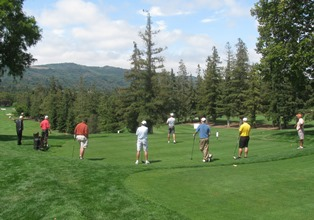 First-Timers Hit Golf Balls for the Kids