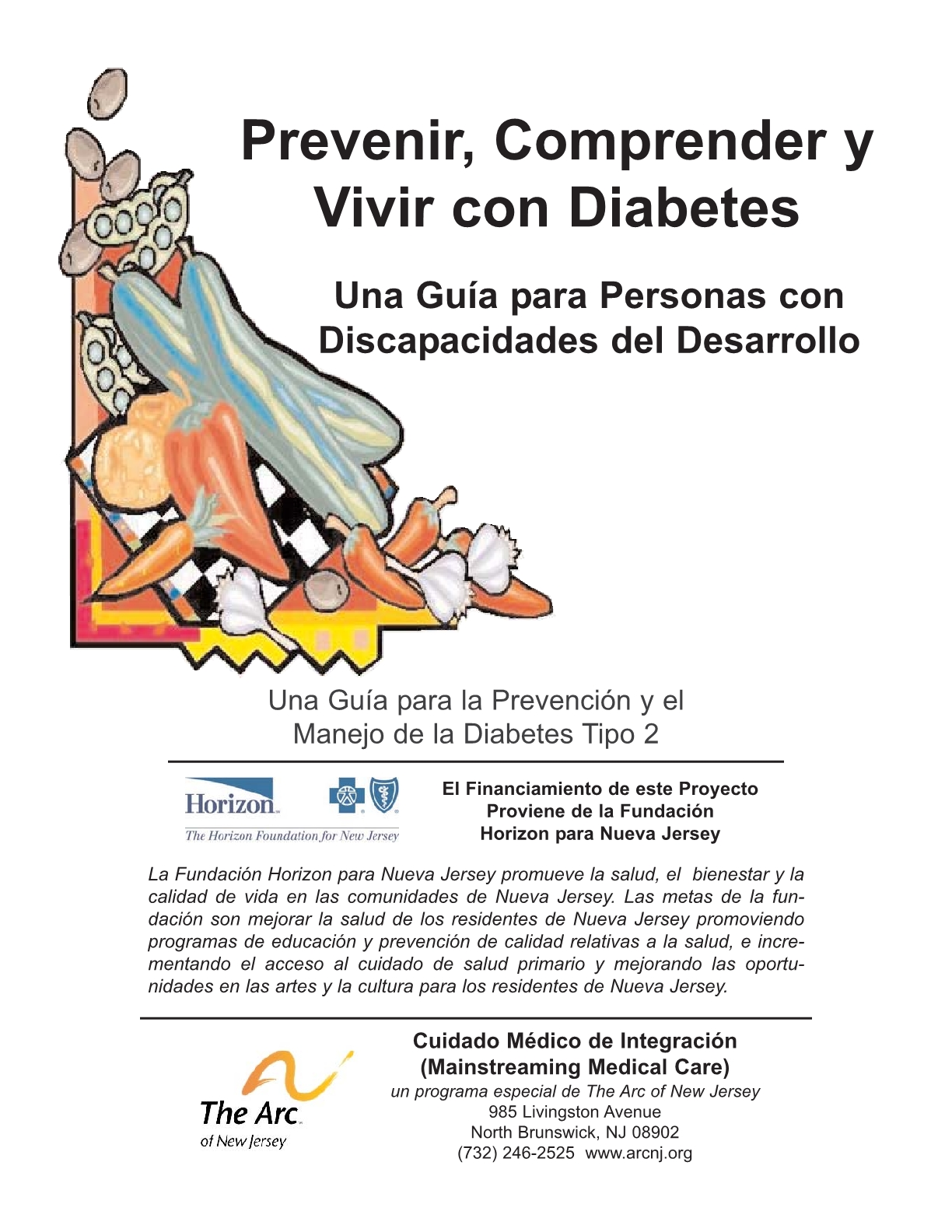 Prevent, Understand, and Live with Diabetes_A Guide for Individuals with Developmental Disabilities - Spanish