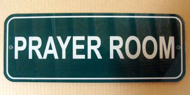 D13302 - Prayer Room Plaque for Church