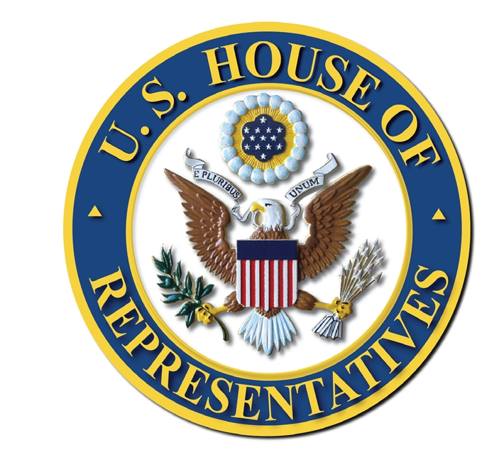 U30107 - Carved 3-D Plaque of the Seal of The House of Representatives