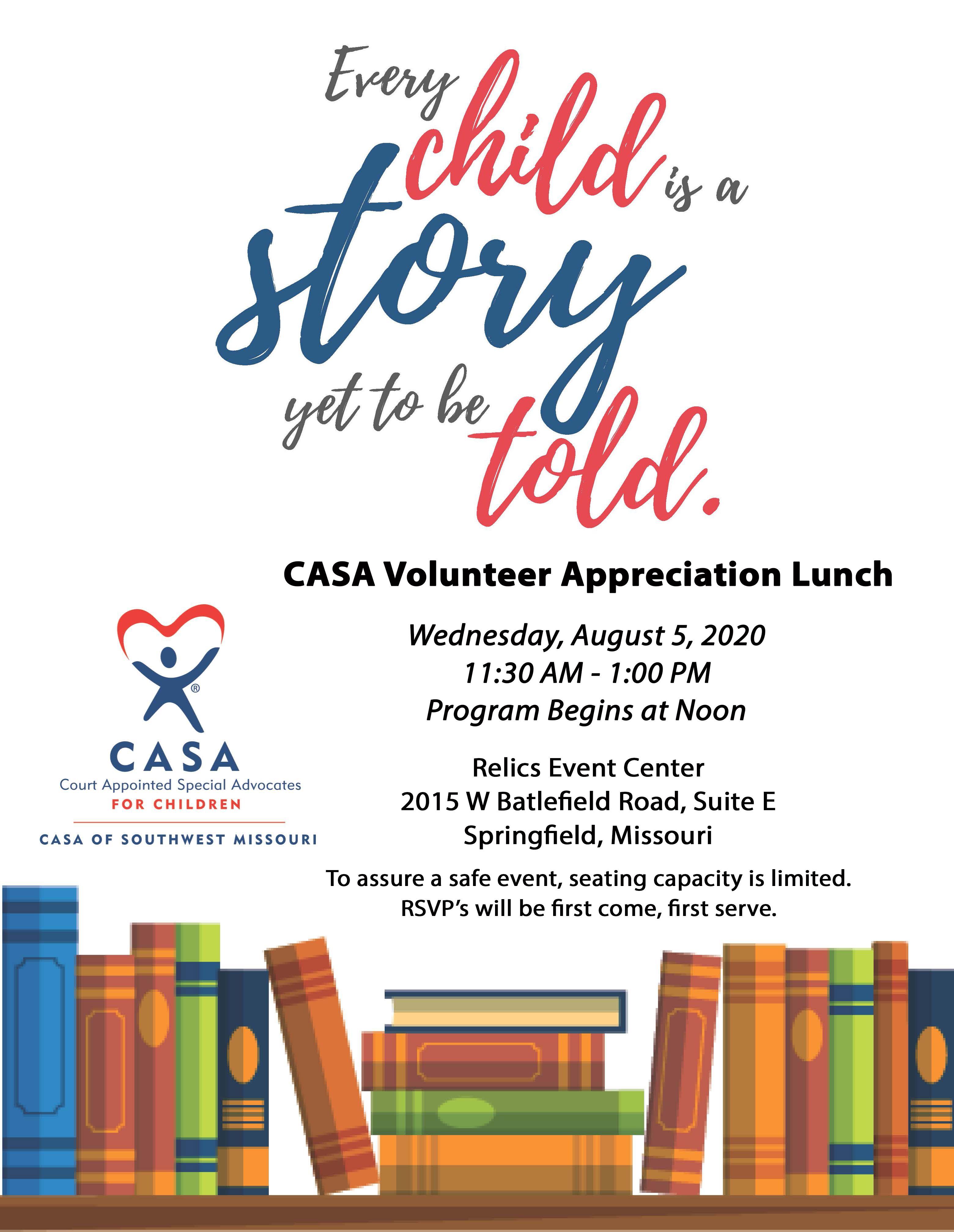 CASA Volunteer Appreciation Lunch