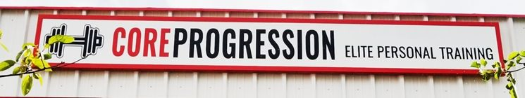 """S28159 - Large Carved HDU Wall Sign  for the """"Core Progression """" Company."""