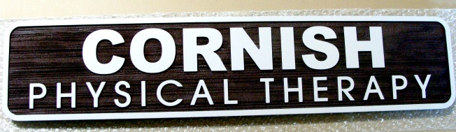B11213 - Sign Made of High Density Urethane with Name of Physical Therapy Office