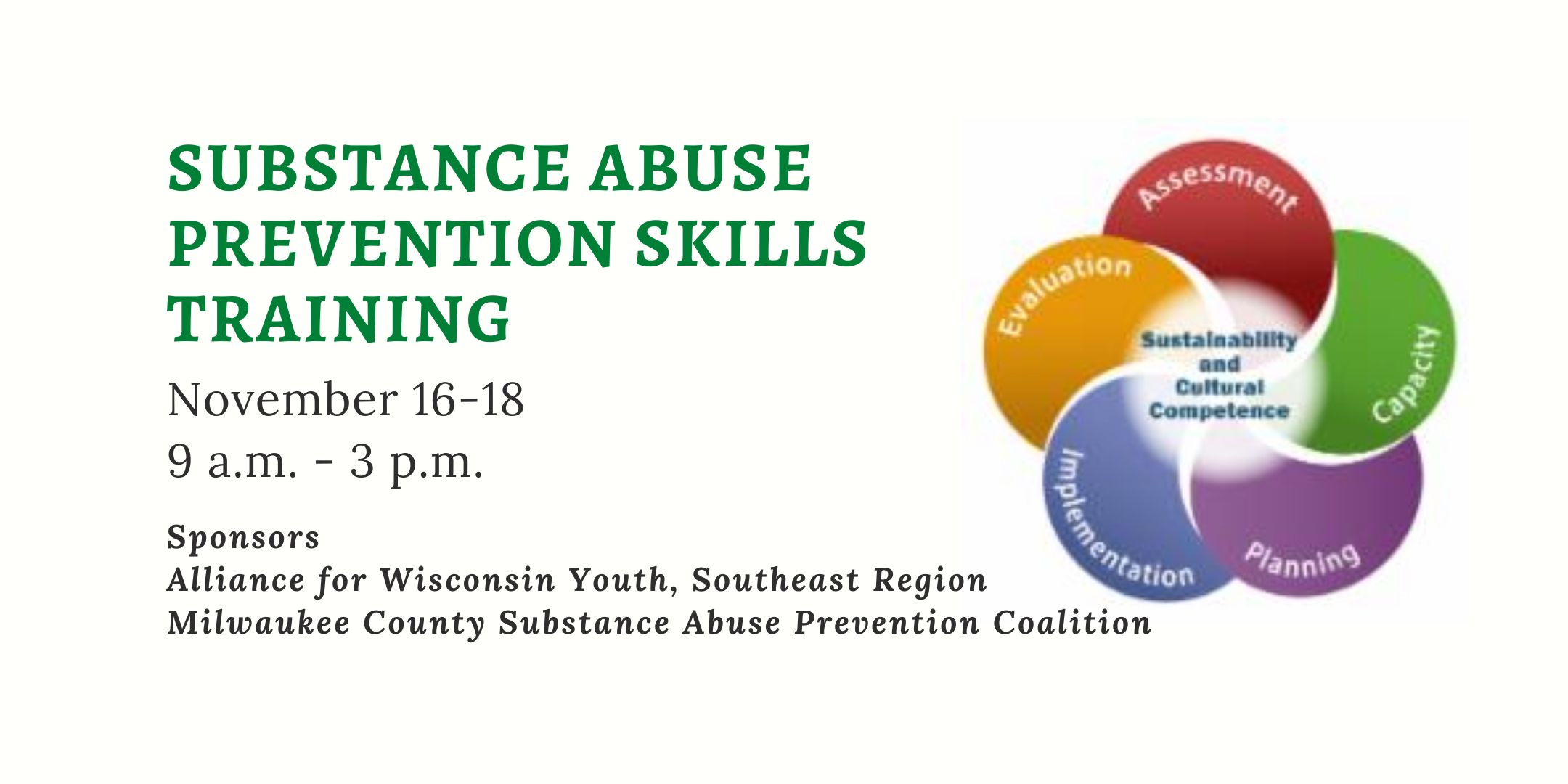 Substance Abuse Prevention Skills Training (AWY SE partners only)