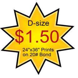 D-size Blueprints $1.50