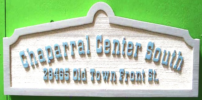 SA28700 - Old Town Chaparral Business Sign with Address