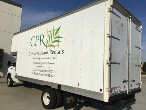Inexpensive Delivery Truck Graphics Orange County CA