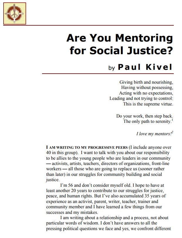 Are You Mentoring for Social Justice?