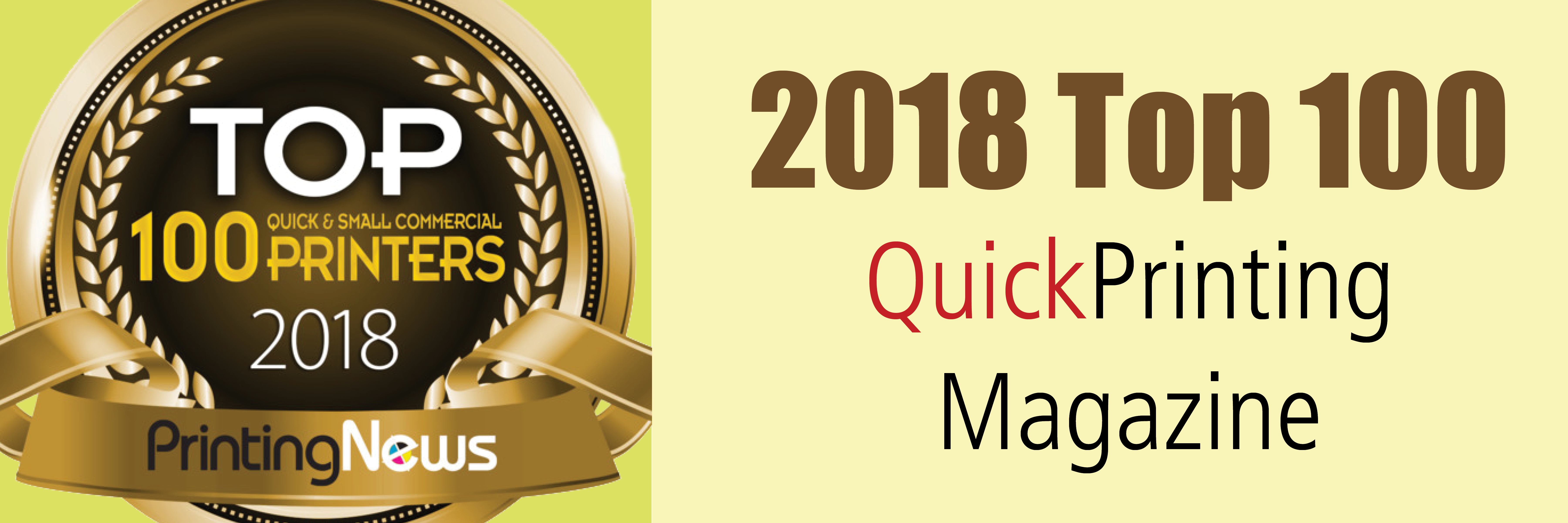 2018 Top 100 QuickPrinting Magazine
