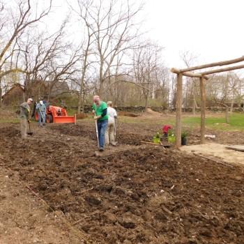 Pollinator garden Planting Begins