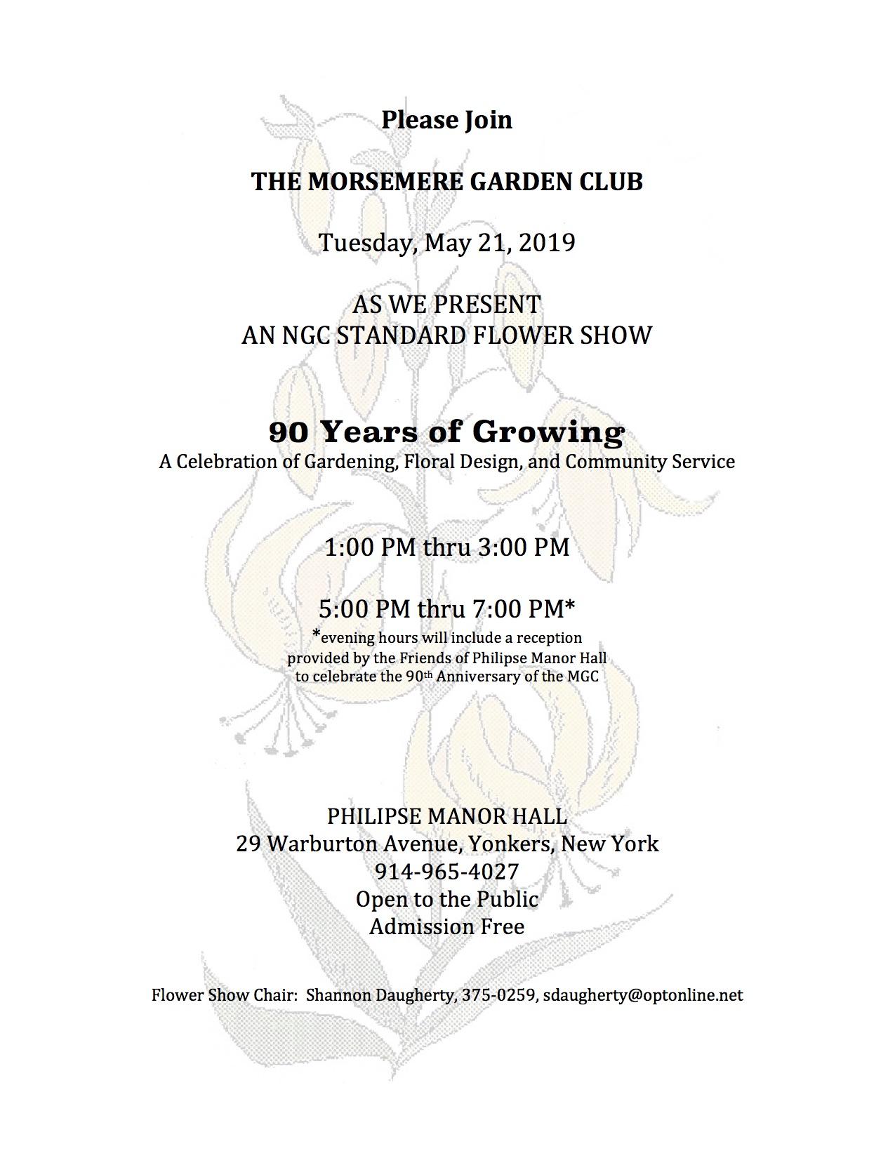 Morsemere Garden Club Flower Show