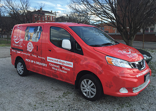 Red Dog Full Van Wrap 3