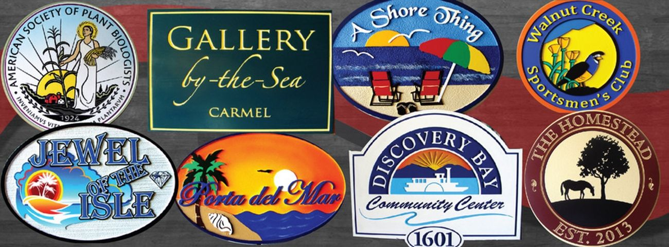 Product Line 1 - Examples of Carved and Sandblasted 2.5-D Signs & Plaques