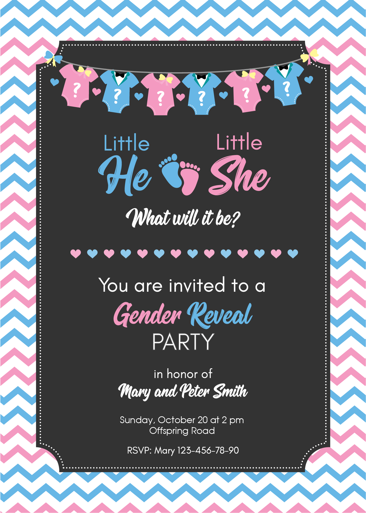 Gender Reveal Invitation