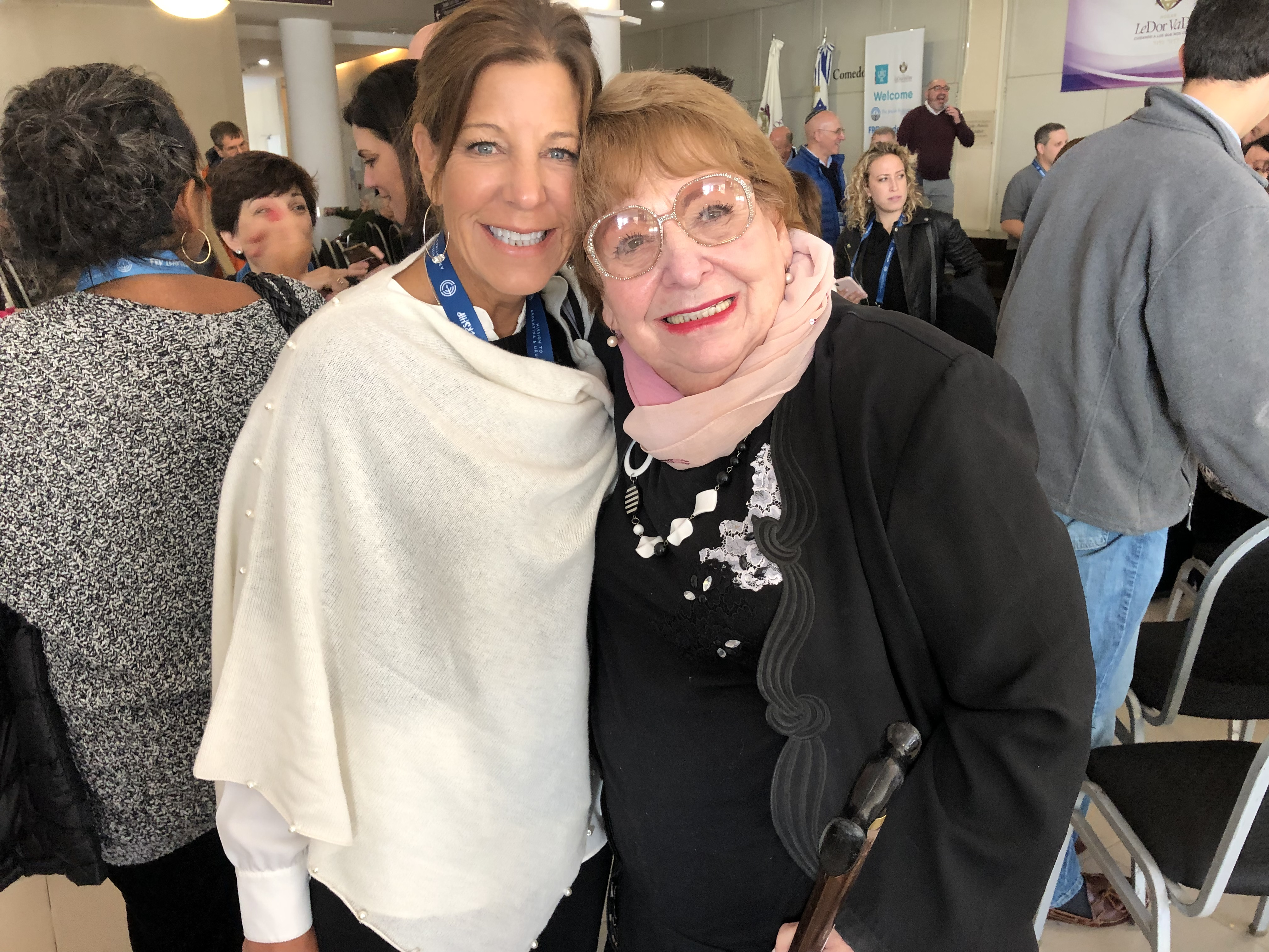 Wendy with a Senior Resident