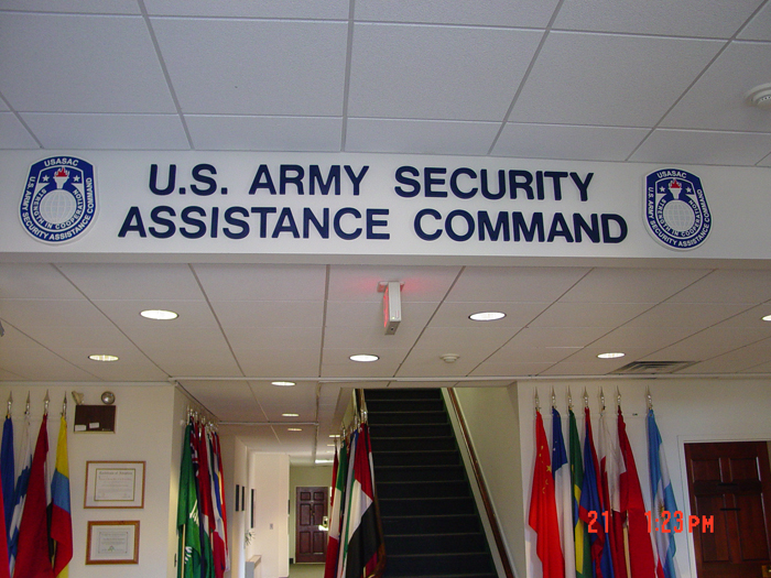US Army Storefront Sign