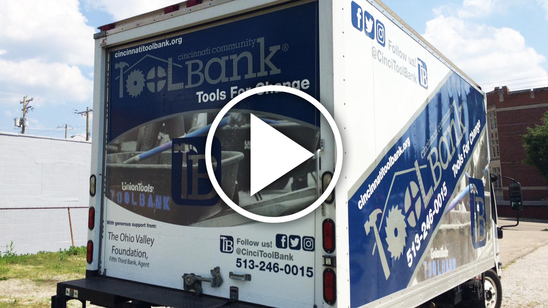 Cincy Tool Bank Box Truck Graphics Install