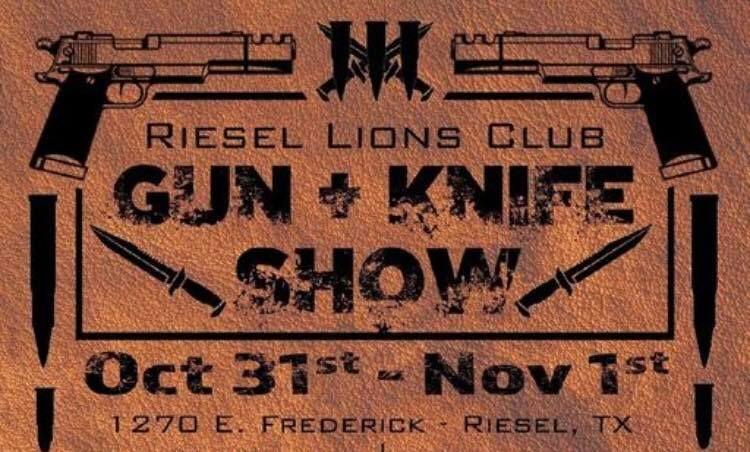 FIJA Table at the Riesel Lions Club Gun + Knife Show