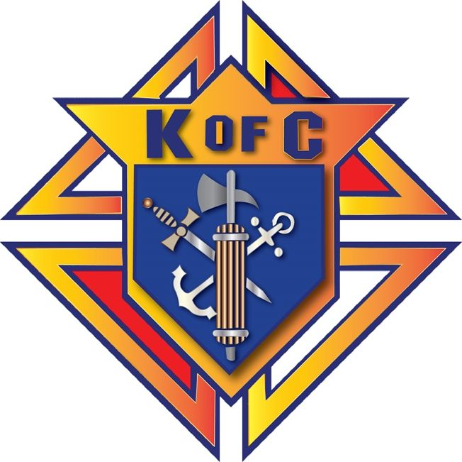 UP-1140 - Carved Wall Plaque of the Emblem / Badge  of Knights of Columbus,  Artist Painted
